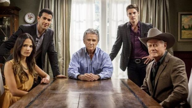 New and old faces: (from left)  Jordana Brewster as Elena Ramos, Jesse Metcalfe as Christopher Ewing, Patrick Duffy as ...