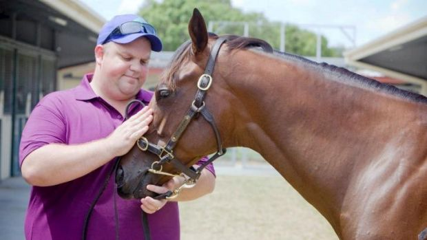 Embattled businessman: Nathan Tinkler with a horse from his stables at the 2010 Magic Millions.