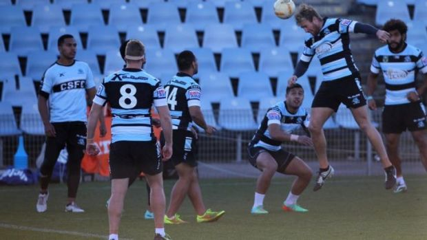 Heading for a resolution: Cronulla players train on Thursday.