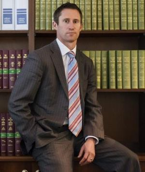 Law man: Shaun Ryan works as a barrister during the week.