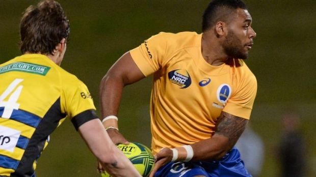 Up and running: Brisbane City's Samu Kerevi.
