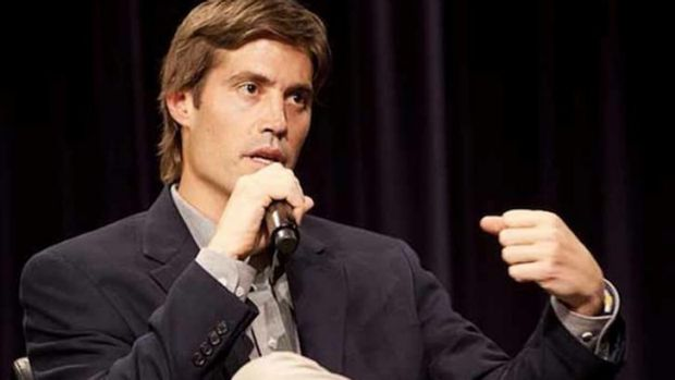US journalist James Foley speaks at Northwestern University's Medill School of Journalism in 2011.