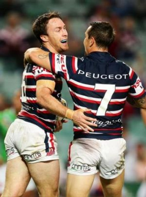 Club focus: James Maloney and Mitchell Pearce have thrived with the Roosters despite losing their NSW jerseys to ...