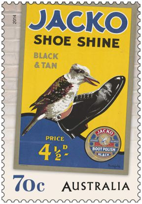 Australia Post 70c Jacko Shoe Shine stamp.