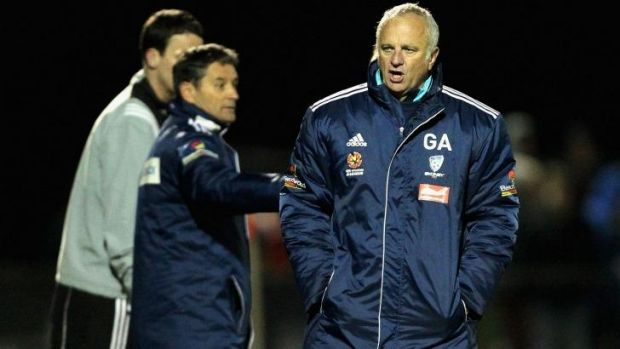 Legend's homecoming: Graham Arnold during Sydney FC's last-round FFA Cup win over Melbourne City.