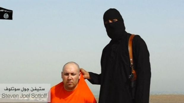 Steven Sotloff in the video released by Islamic State, is one of about 20 Western hostages held by the jihadists.