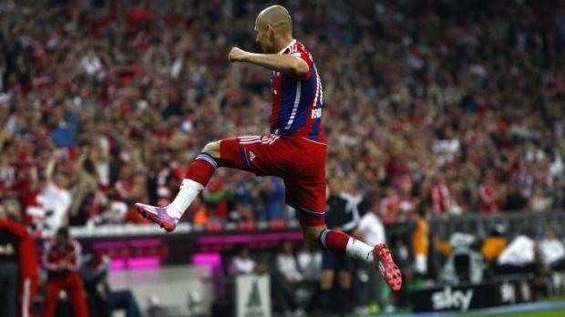 Overjoyed: Arjen Robben.