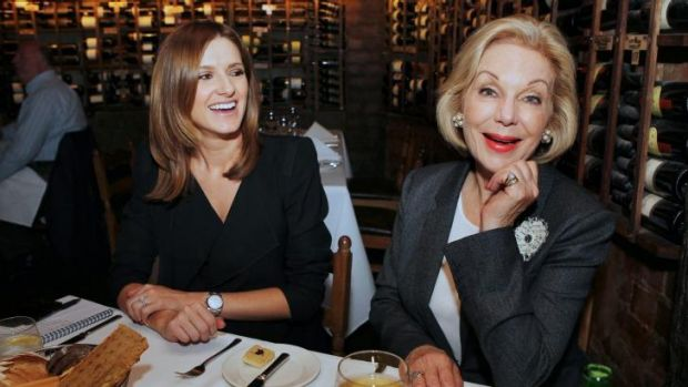 Style queen: Kate Waterhouse lunches with Ita Buttrose at Beppis, Sydney.
