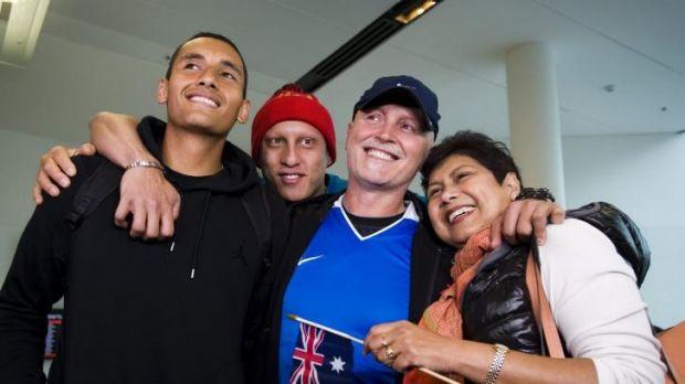 Nick Kyrgios and family