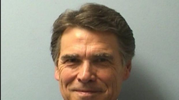 Texas Governor Rick Perry's  booking photo.