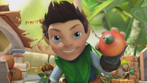 All fall down: UK children's show, Tree Fu Tom.