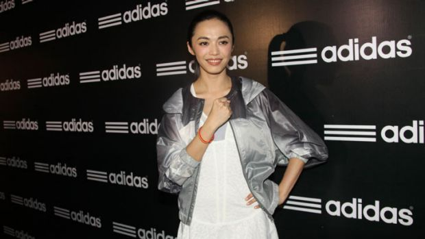Yao Chen attends Adidas promotional event at Sanlitun on July 17, 2012 in Beijing, China.
