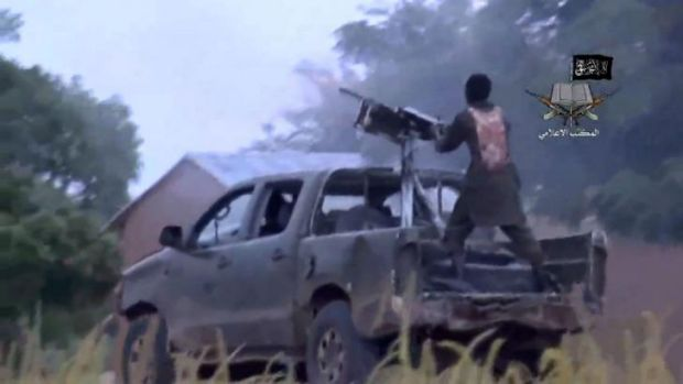 Nigerian Islamist extremist group Boko Haram video shows fighting at an undisclosed location.