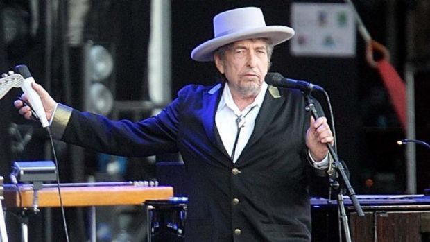 Bob Dylan performing in France in May.