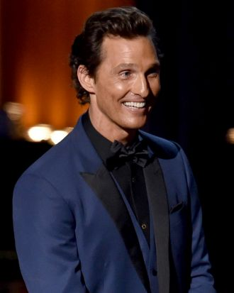 All smiles: Matthew McConaughey.
