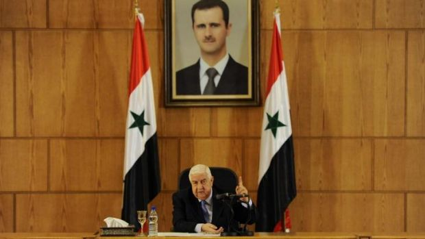 Syria's Foreign Minister Walid al-Moualem in Damascus.