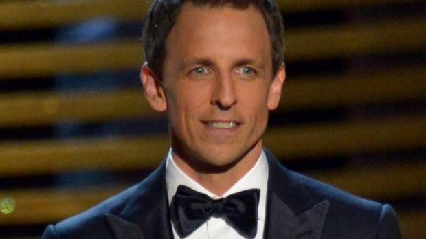 Shrewd strategy ... Rookie Emmy Awards host Seth Meyers.