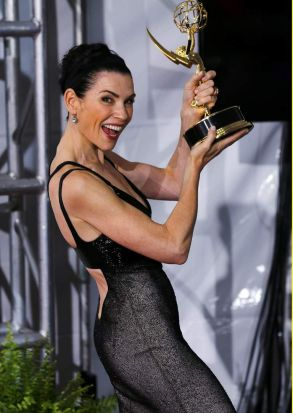 Julianna Margulies: outstanding lead actress in a drama series <i>The Good Wife</i>.
