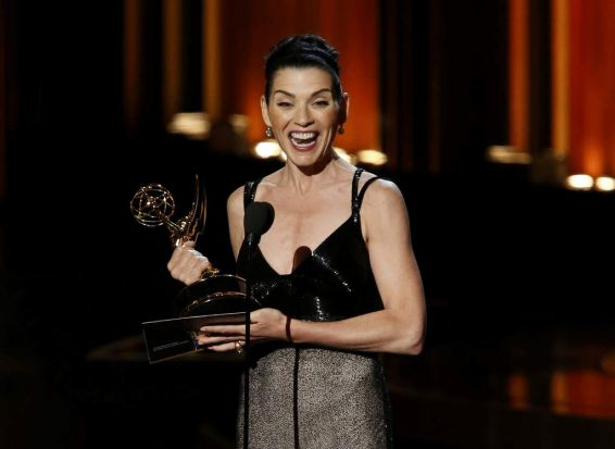 Julianna Margulies, star of <i>The Good Wife</i>, is thrilled with her Emmy win.