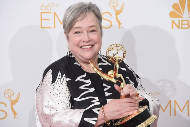 Kathy Bates: outstanding supporting actress in a miniseries or movie for <i>American Horror Story: Coven</i>.