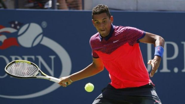 Close to forfeiting: Nick Kyrgios.