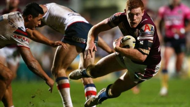 """""""I'd like to have it sorted before finals come around"""": Manly forward Tom Symonds."""