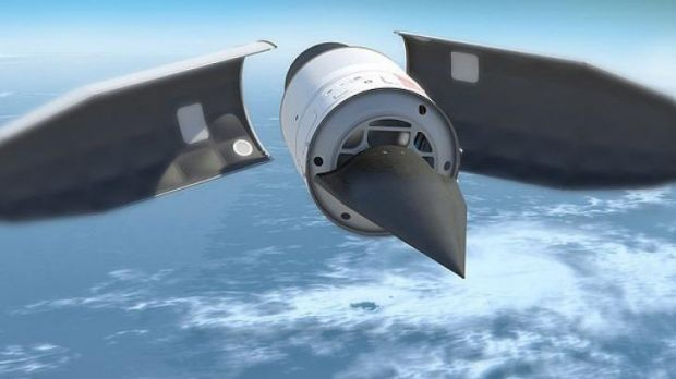 An artist's rendering of a hypersonic glide vehicle.
