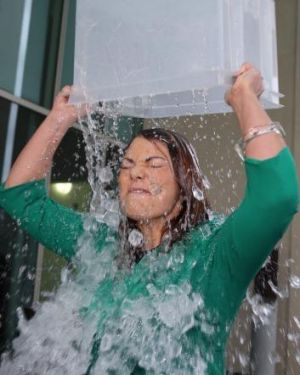 Water matter: Sarah Hanson-Young has dared Scott Morrison, Christine Milne and Clive Palmer to take the challenge.