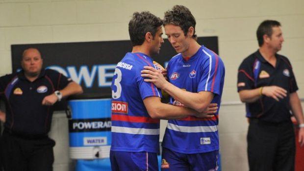Great mates: Daniel Giansiracusa and Robert Murphy.