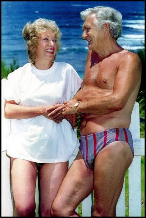 Former prime minister Bob Hawke with Blanche d'Alpuget in 1994.