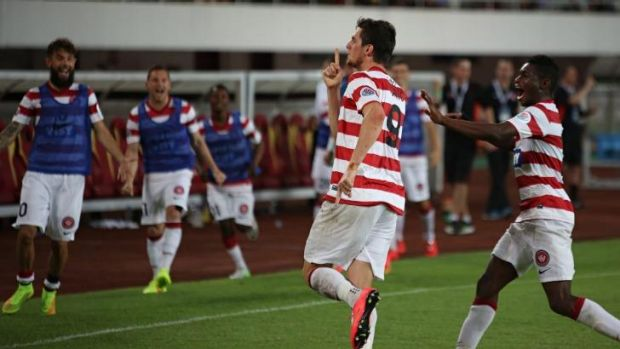 Tomi Juric silenced the crowd with his penalty conversion.