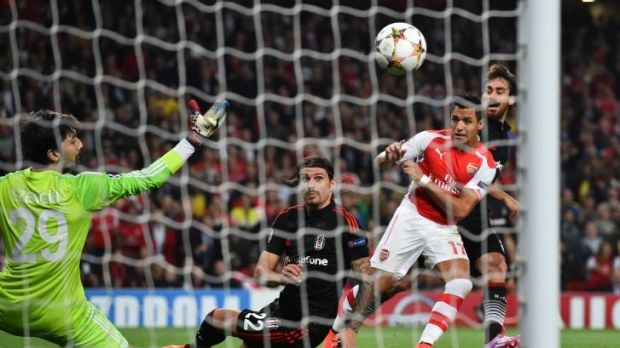 Sole strike: Alexis Sanchez's first goal for Arsenal was enough to qualify the Gunners for the Champions League.