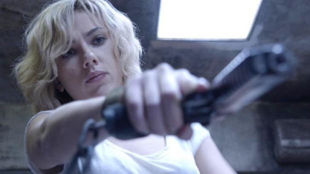 Stepping up her game: Scarlett Johansson in <i>Lucy</i>.