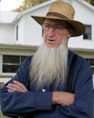Samuel Mullet snr at his home in Ohio in 2011.