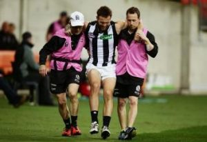 Brent Macaffer is just one of many injured Magpies.
