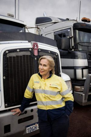 Queen of the road: Lyndal Denny, who started a campaign against truck drivers, then became one.