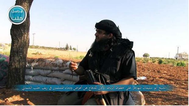 Image purportedly showing Sheikh Abu Sulayman al-Muhajir, whose real name is Mostafa Mahamed, fighting in Syria.