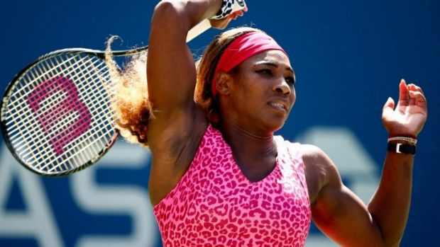 World No.1 Serena Williams cruised through the second round despite tricky conditions.