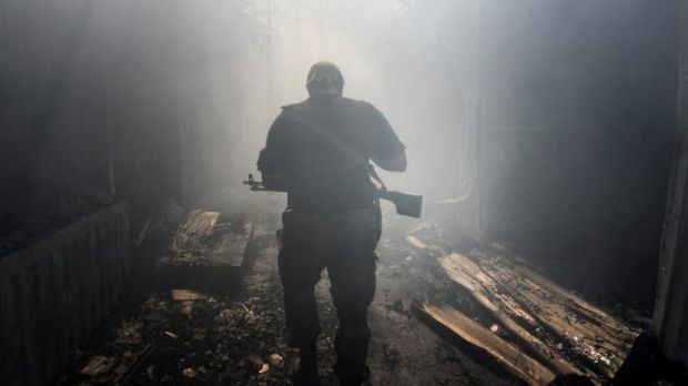 A pro-Russian rebel in Donetsk, eastern Ukraine. The US has accused Russia of sending combat troops to support the rebels.