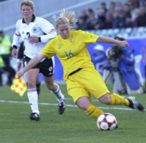 Amy Wilson at Canberra Stadium during the 200 Olympics.