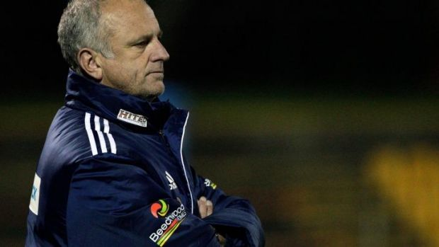 Hard taskmaster: Graham Arnold oversees Sydney FC's pre-season training.