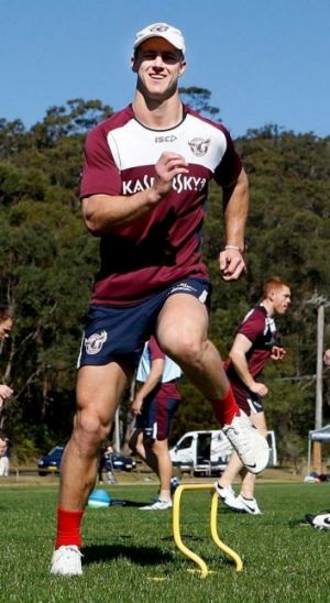 Warms up during a training session at the Sydney Academy: Daly Cherry-Evans.