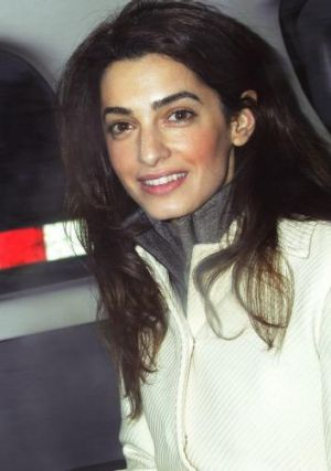 Bride to be: Amal Alamuddin.