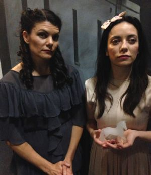 Maree Grayden and Aisling McGrogan play mother and daughter Amanda and Laura Wingfield in Tennessee Williams' <i>The ...