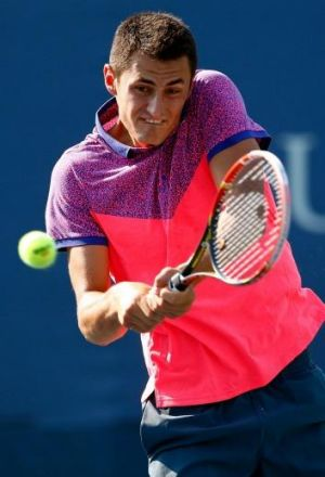 Bernard Tomic's scratching continued his second-round hoodoo in New York.