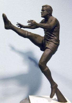A maquette of the proposed Ricciuto statue.