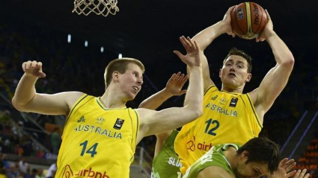 Aron Baynes was dominant for the Boomers.