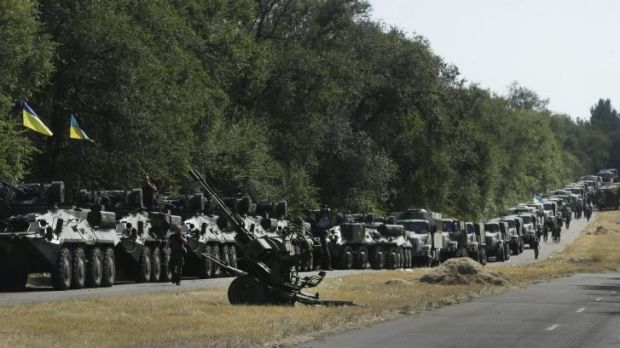 Hardware: Ukrainian military equipment outside Mariupol.