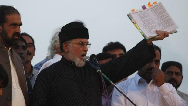 Tahir ul-Qadri: Sufi cleric and leader of the political party Pakistan Awami Tehreek.
