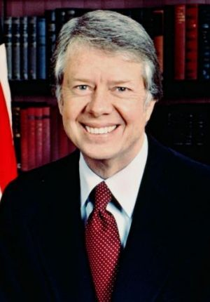 President Jimmy Carter while in office in 1977.